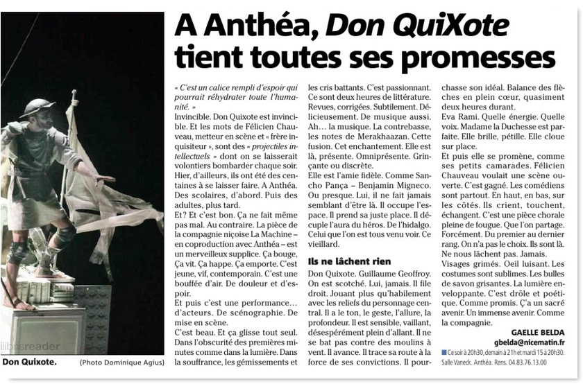 Don Quixote, Eva Rami, La machine