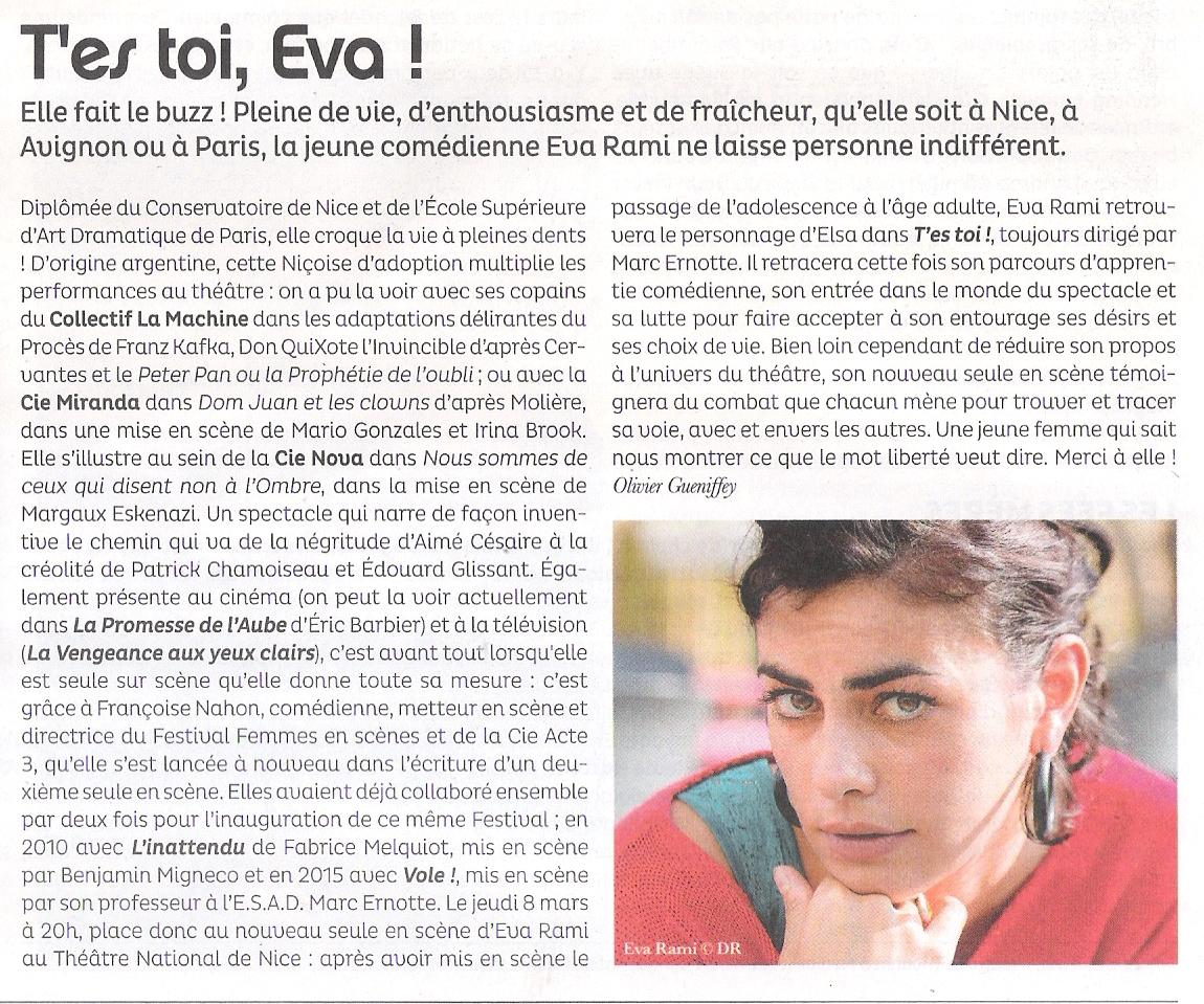 T'ES TOI! Eva Réami au TNN