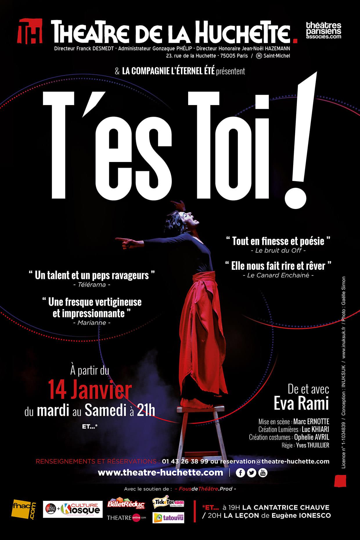Eva Rami THéâtre de la Huchette